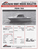 Penn Yan Outrage 225 Mercruiser Performance Report Brochure
