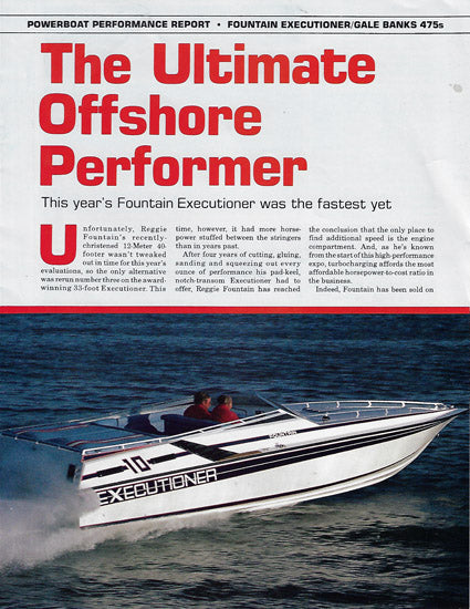 Fountain Executioner Powerboat Magazine Reprint