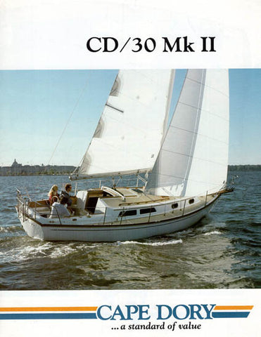 Cape Dory 30 Mark II Brochure