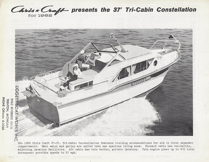 Chris Craft Constellation 37 Tri Cabin Specifiction Brochure