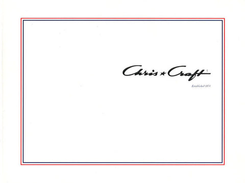 Chris Craft 2002 Hard Bound Brochure