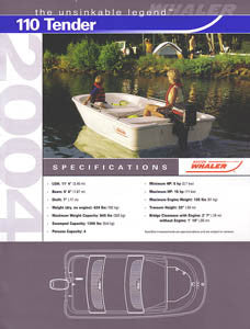 Boston Whaler 110 Tender Specification Brochure
