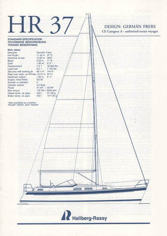 Hallberg-Rassy 37 Specification Brochure