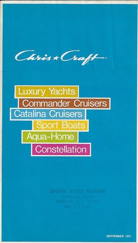 Chris Craft 1972 Full Line Brochure