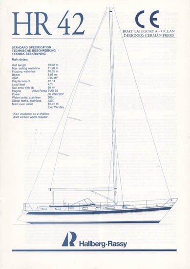 Hallberg-Rassy 42 Specification Brochure