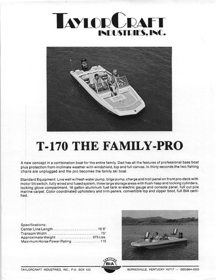 TaylorCraft T-170 The Family Pro Brochure