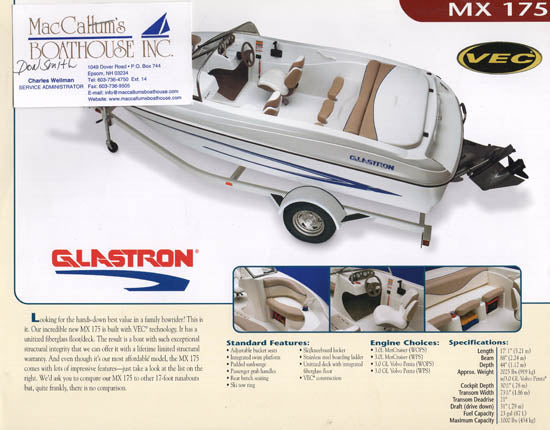 Glastron 2004 MX 175 Brochure