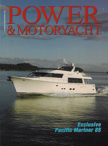 Pacific Mariner 85 Power & Motoryacht Magazine Reprint Brochure
