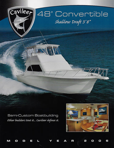 Cavileer 48 Specification Brochure