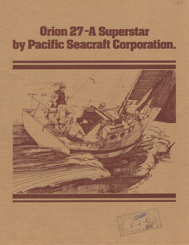 Pacifc Seacraft Orion 27 Brochure