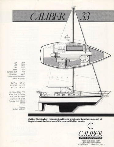 Caliber 33 Specification Brochure