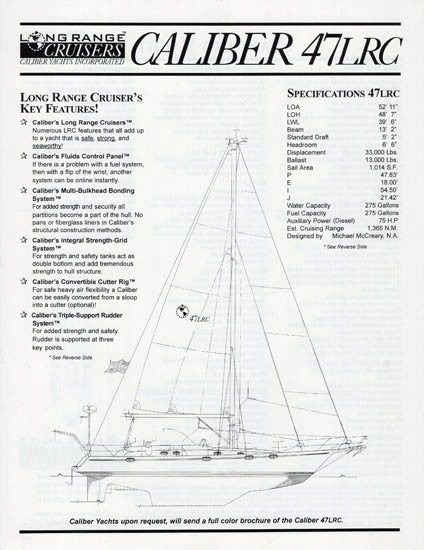 Caliber 47LRC Specification Brochure