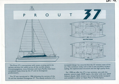 Prout 37 Specification Brochure