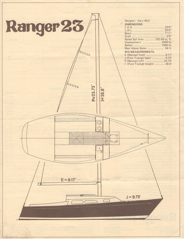 Ranger 23 Specification Brochure
