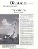 Chris Craft Capri 26 Popular Boating Magazine Reprint Brochure