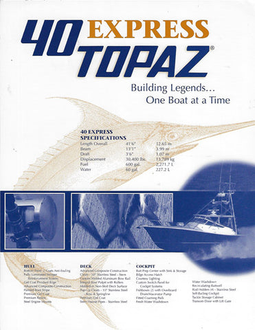Topaz 40 Express Specification Brochure