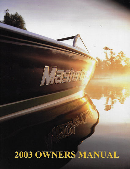 Mastercraft 2003 Owners Manual