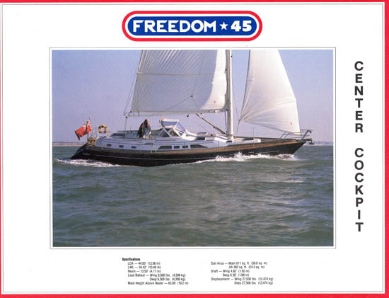 Freedom 45 Center Cockpit Brochure