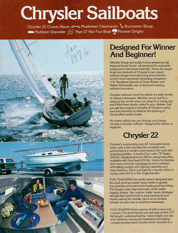 Chrysler 1976 Sailboat Brochure