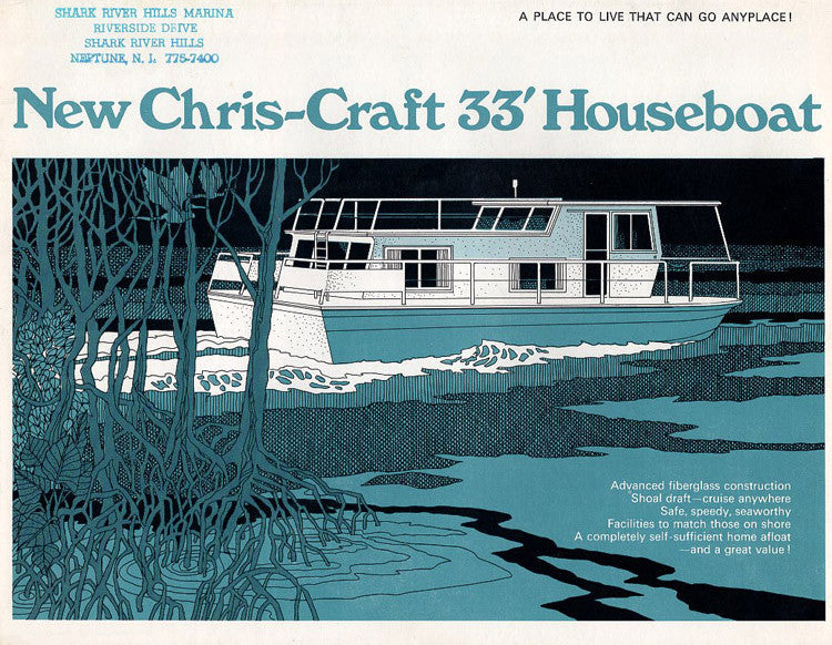 Chris Craft 33 Houseboat Brochure
