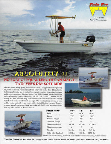 Twin Vee Models 8-17' Brochure