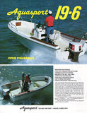 Aquasport 19-6 Open Fisherman Brochure