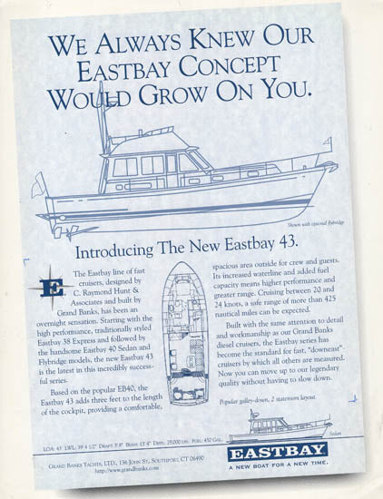 Grand Banks Eastbay 43FB Preliminary Brochure