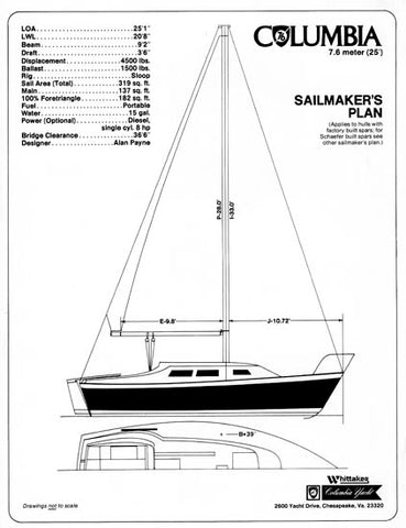 Columbia 7.6 Sailmaker Brochure