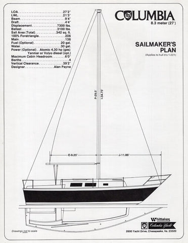 Columbia 8.3 Sailmaker Brochure