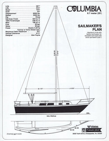 Columbia 8.7 Sailmaker Brochure
