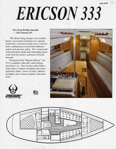 Ericson 333 Brochure [Pacific Seacraft]