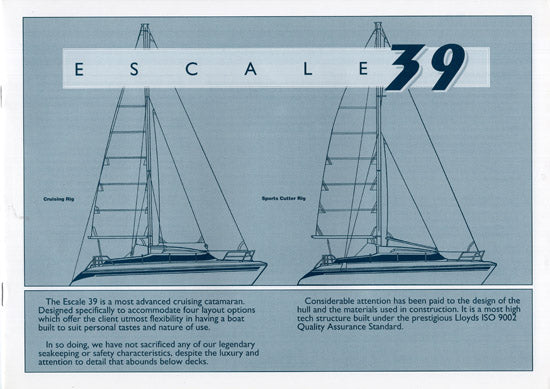 Prout Escale 39 Specification Brochure