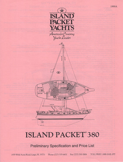 Island Packet 380 Specification Brochure