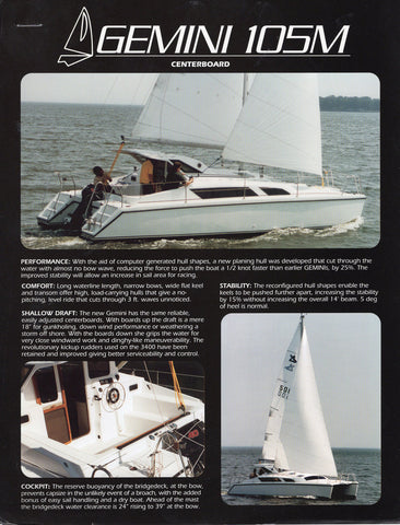 Gemini 105M Brochure Package