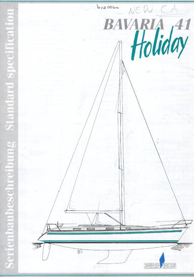 Bavaria 41 Holiday Specification Brochure