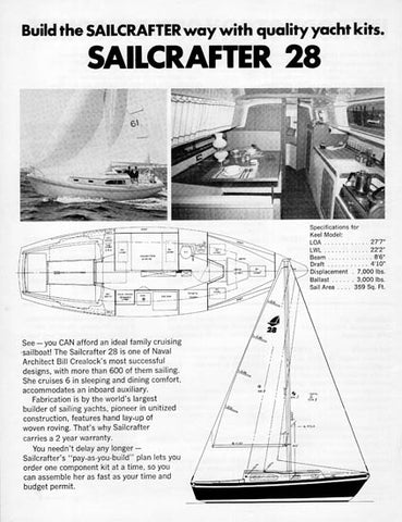 Columbia Sailcrafter 28 Brochure