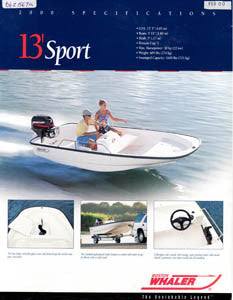 Boston Whaler 13 Sport Specification Brochure