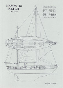 Mason 43 Ketch Specification Brochure