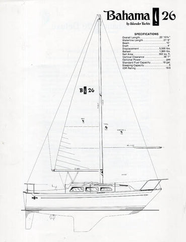 Islander 26 / Bahama 26 Brochure Package