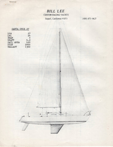 Santa Cruz 27 Specification Packet