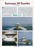 Fairways Trawlers 38 Sea Magazine Reprint Brochure