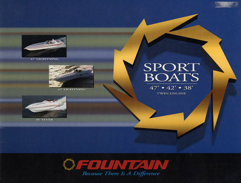 Fountain 1998 Sport Boats 38 - 47 Brochure