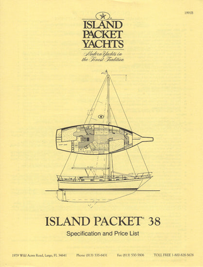 Island Packet 38 Specification Brochure