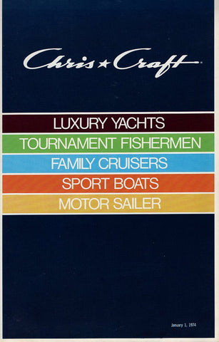 Chris Craft 1974 Full Line Brochure