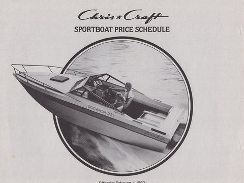 Chris Craft 1980 Sport Boats Price List