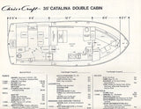 Chris Craft Catalina 35 Double Cabin Specification Brochure