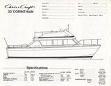 Chris Craft Catalina 33 Specification Brochure