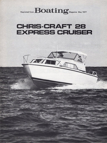 Chris Craft Catalina 28 Express Boating Magazine Reprint Brochure