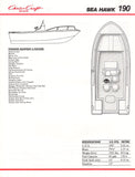 Chris Craft Sea Hawk 190 Brochure
