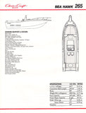 Chris Craft Sea Hawk 265 Brochure